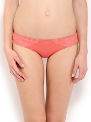 Amante Coral Orange Glamour Sheer Luxury Briefs PGSX01