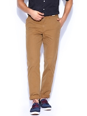 Tommy Hilfiger Men Brown Hudson Straight-Fit Chino Trousers