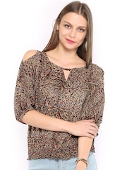 Fabindia Women Multi-Coloured Kalamkari Print Top