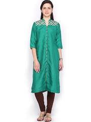 W Women Green Kurta
