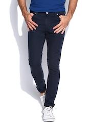 STANLEY KANE Men Navy Super Skinny Stretch Fit Jeans