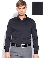 Arrow New York Men Black Super Slim Fit Formal Shirt