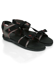 Puma Unisex Black Woody DP Sports Sandals
