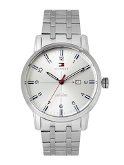 Tommy Hilfiger Men Silver-Toned Dial Watch TH1710327J