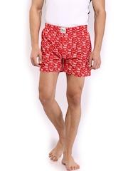 FCUK Underwear Men Red Printed Boxers TGCBG
