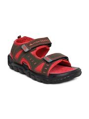 Men Olive Green & Red Sports Sandals High Sierra