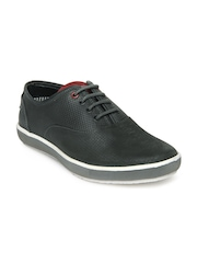 Men Charcoal Grey Leather Casual Shoes High Sierra