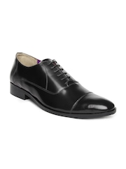 INVICTUS Men Black Leather Formal Shoes