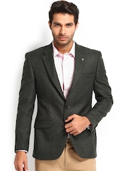 Raymond Men Grey Contemporary Fit Woollen Blazer