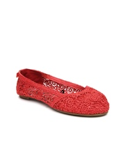 Boltio Women Coral Pink Flat Shoes