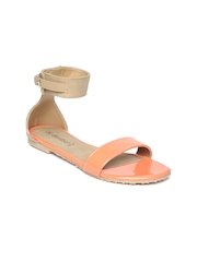 DressBerry Women Orange & Beige Flats