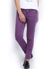 Tommy Hilfiger Women Purple Trousers