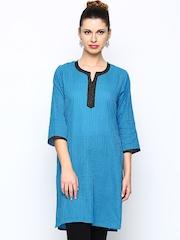 Jaipur Kurti Women Blue Kurta