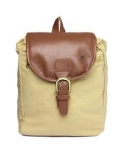 OTLS Unisex Beige & Brown Backpack