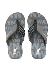 Liverpool Football Club UK Men Grey & Black Flip-Flops