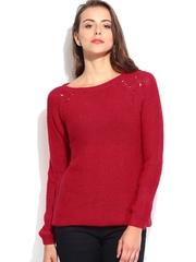 People Women Red Sweater