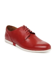 Louis Philippe Men Red Leather Casual Shoes
