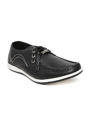 Lee Cooper Men Black Leather Casual Shoes