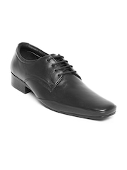Lee Cooper Men Black Leather Formal Shoes