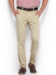 TWILLS Men Beige Ultra Slim Fit Trousers