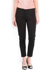 Tokyo Talkies Women Black Slim Fit Trousers