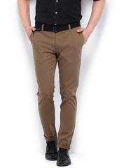Roadster Men Brown Torino Slim Fit Trousers