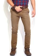 Roadster Men Brown Trousers