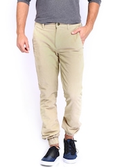 Kook N Keech Men Beige Trousers
