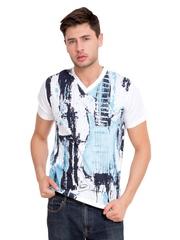 ELABORADO Men White Printed T-shirt