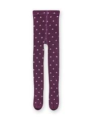 MANGO Kids Girls Burgundy Printed Stockings