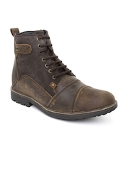 GAS Men Brown Leather Boots