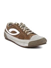 Men Brown & Grey Suede Casual Shoes Woodland