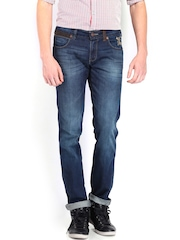 Wrangler Men Blue Rockville Fit Jeans