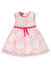 Cupcake Celebrations Girls Pink & White Lace Fit & Flare Dress