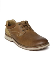 Clarks Men Tan Brown Leather Casual Shoes