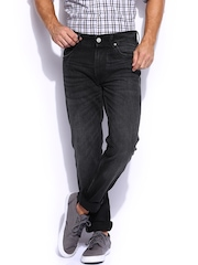 Mast & Harbour Men Black Slim Fit Jeans