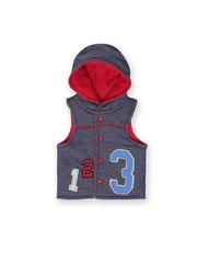 FS Mini Klub Blue Infant Boys Sleeveless Hooded Jacket