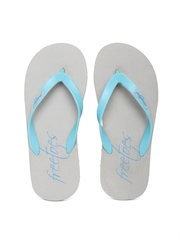 Freetoes Men Sea Green & Grey Flip-Flops