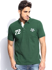 French Connection Men Green Polo T-Shirt