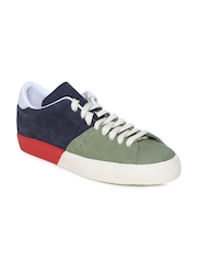 Adidas Originals Men Charcoal Grey & Olive Green Matchplay Leather Casual Shoes