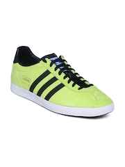 Men Fluorescent Green Gazelle OG Suede Casual Shoes Adidas Originals