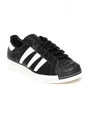 Adidas Originals Men Black Leather Superstar 80s Predator Casual Shoes