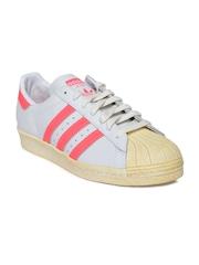 Men Grey Superstar 80S Casual Shoes Adidas Originals