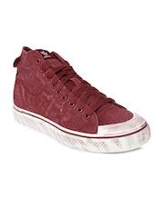 Adidas Originals Men Maroon Nizza Hi Classic 78 Casual Shoes