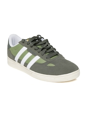 Adidas Originals Men Olive Green Ciero Suede Casual Shoes