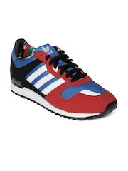 Adidas Originals Men Red & Black ZX 700 Casual Shoes