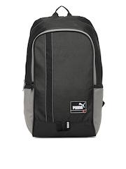Puma Men Black Convex Laptop Backpack