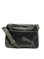 Puma Men Black Originals Reporter Messenger Bag