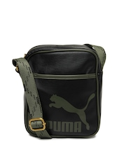 Puma Men Black Originals Portable Messenger Bag