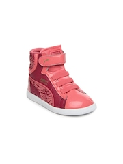 PUMA Girls Pink First Round Casual Shoes